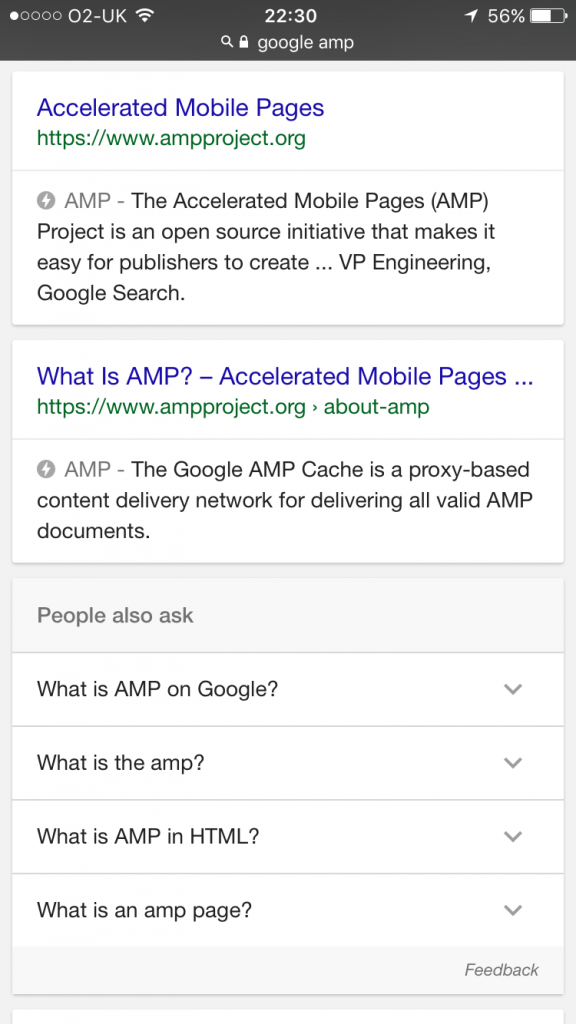 Example AMP Listing